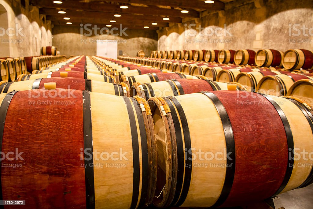 Wine cellar, France royalty-free stock photo