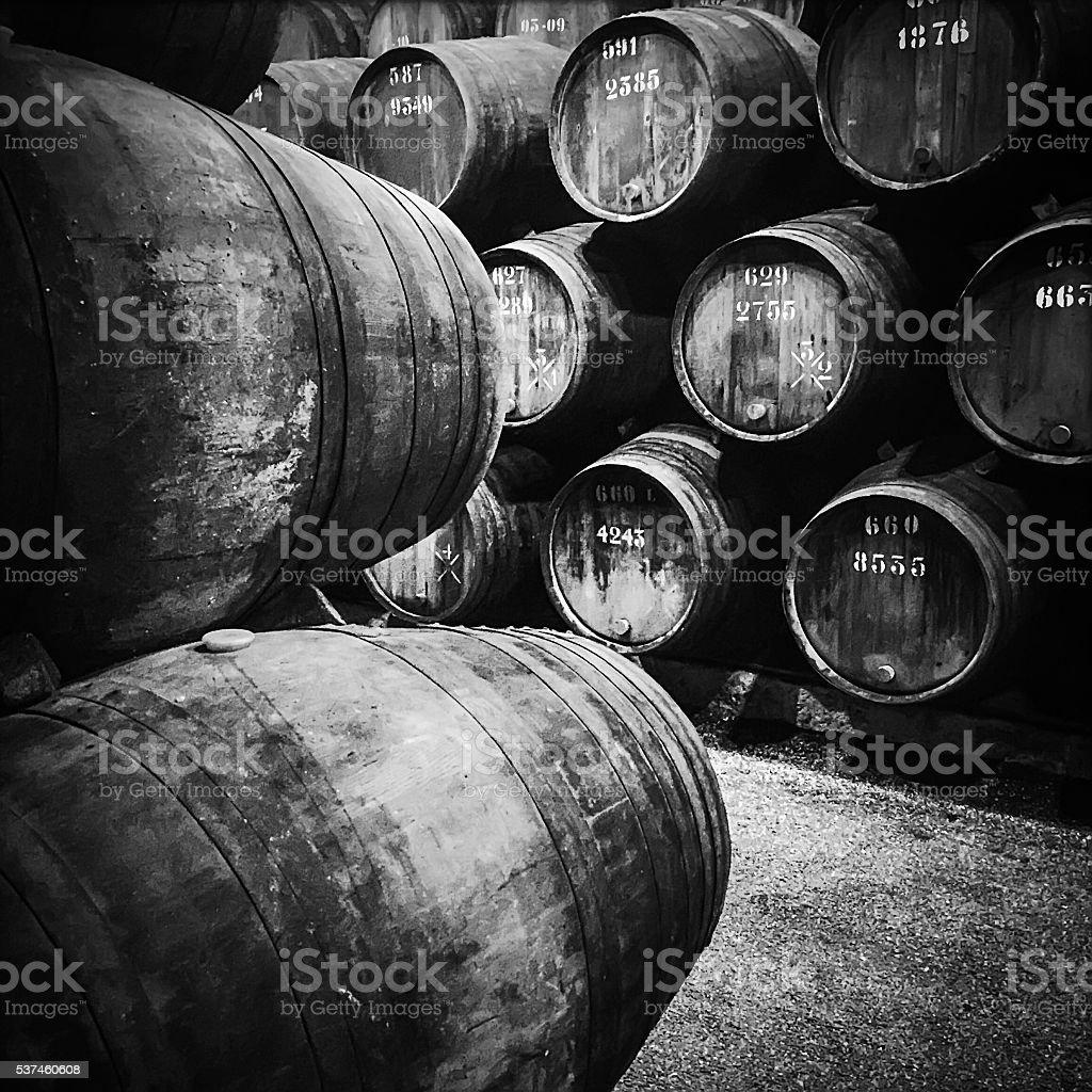 Wine Cellar In Porto, Portugal stock photo