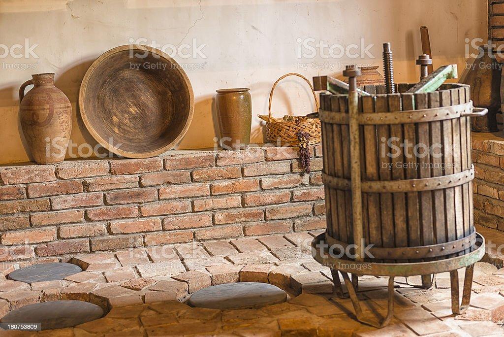Wine Cellar in Telavi stock photo