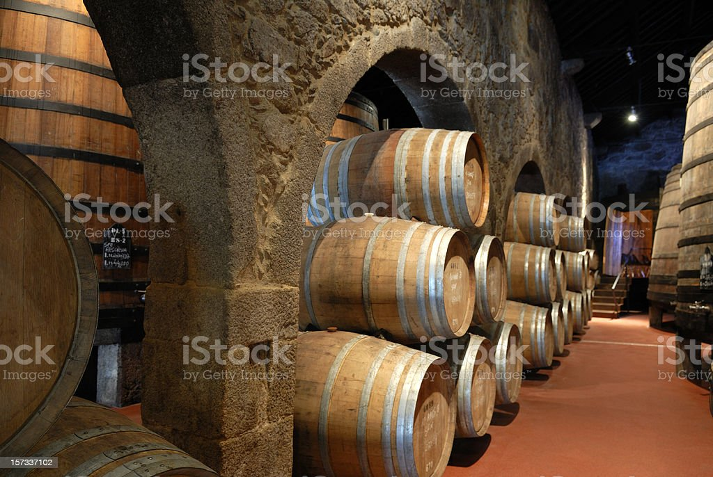 Wine cellar ( Port ) royalty-free stock photo