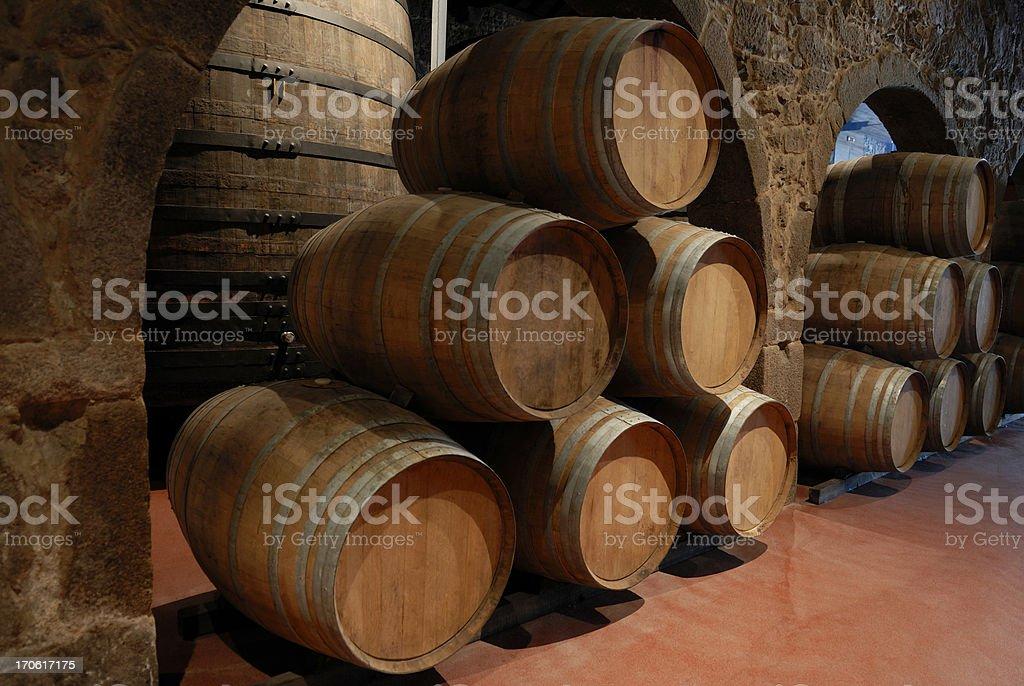 Wine cellar ( Port ) stock photo