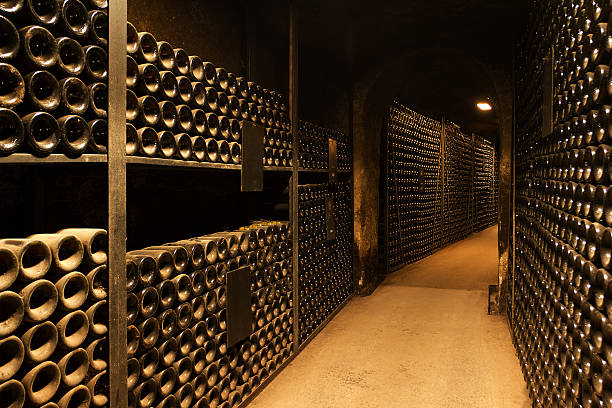 Wine cellar Thousands of bottles cellar stock pictures, royalty-free photos & images