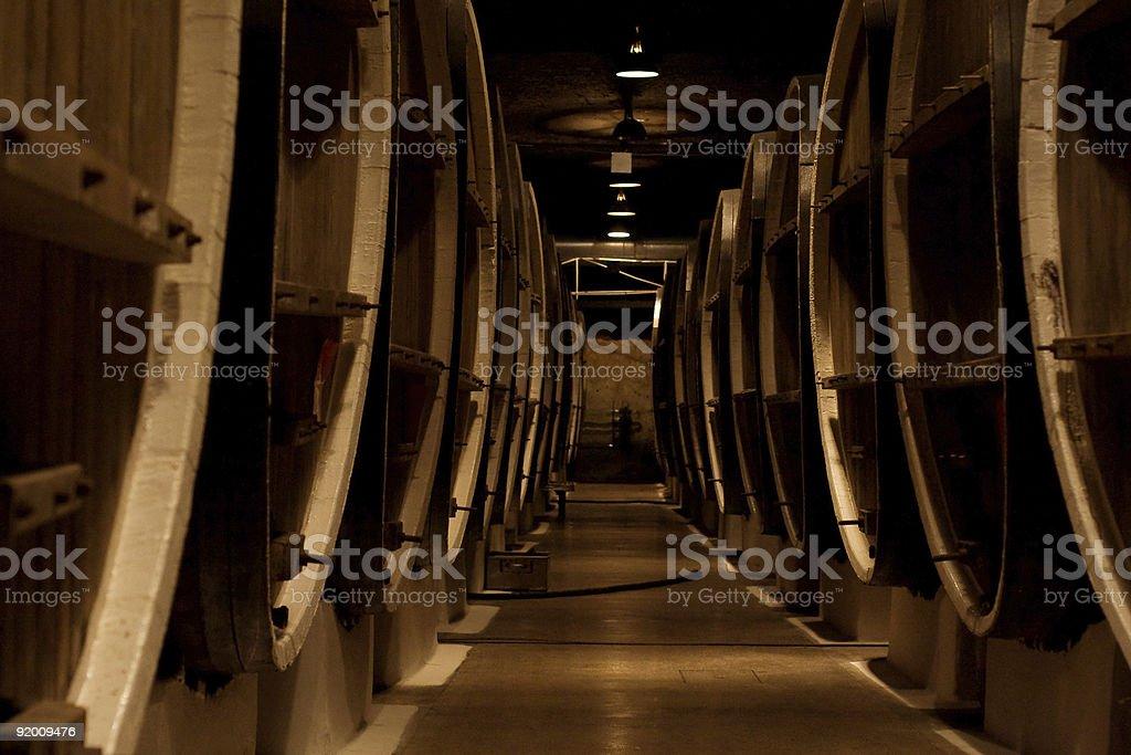 Wine cellar  Aging Process Stock Photo