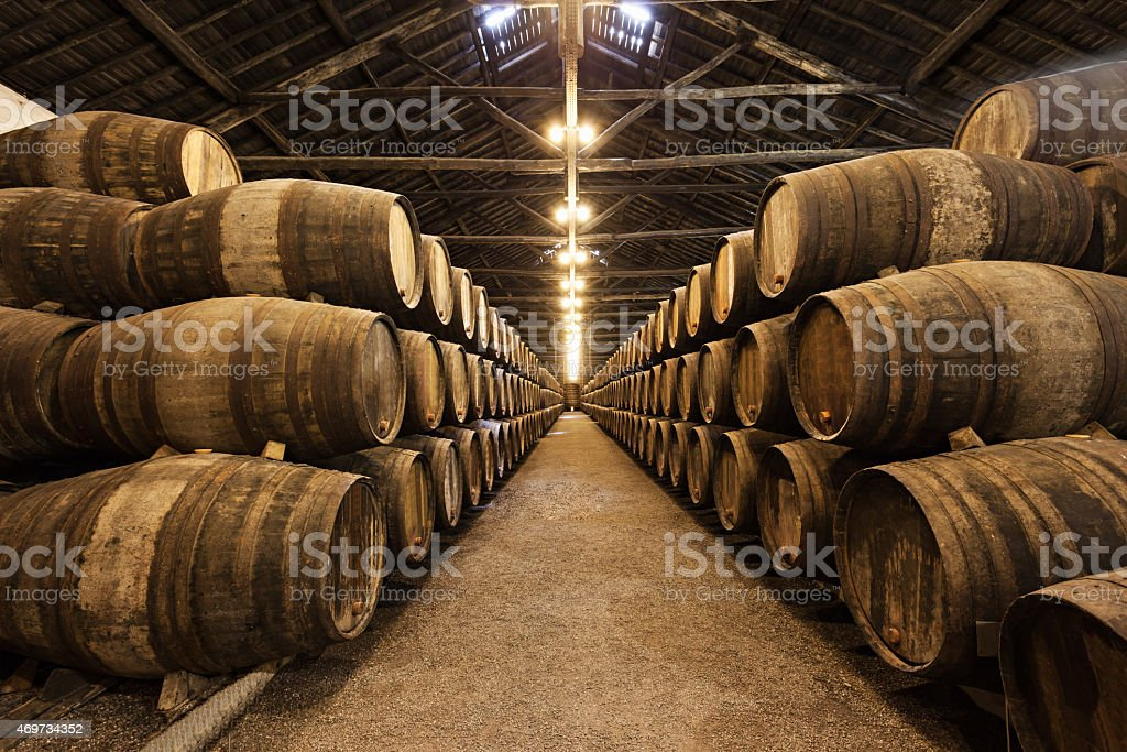 Wine cellar, Porto stock photo