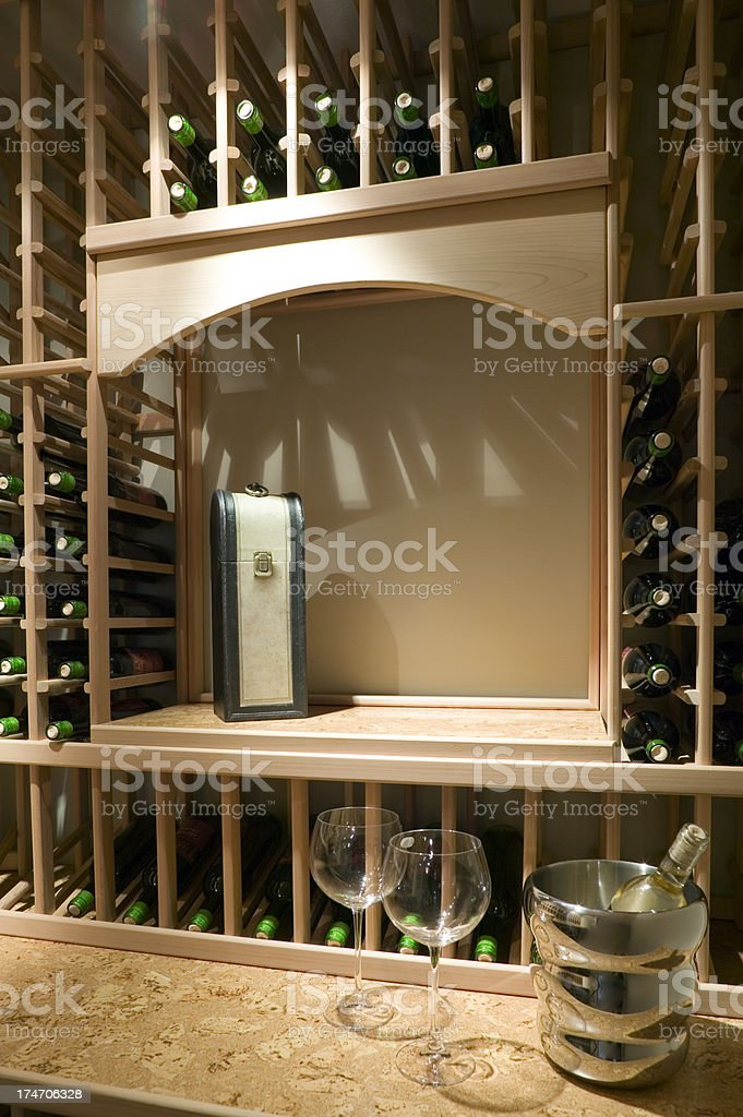 Wine Cellar Room Basement Storage Bottles Stacked Stock Photo Download Image Now Istock