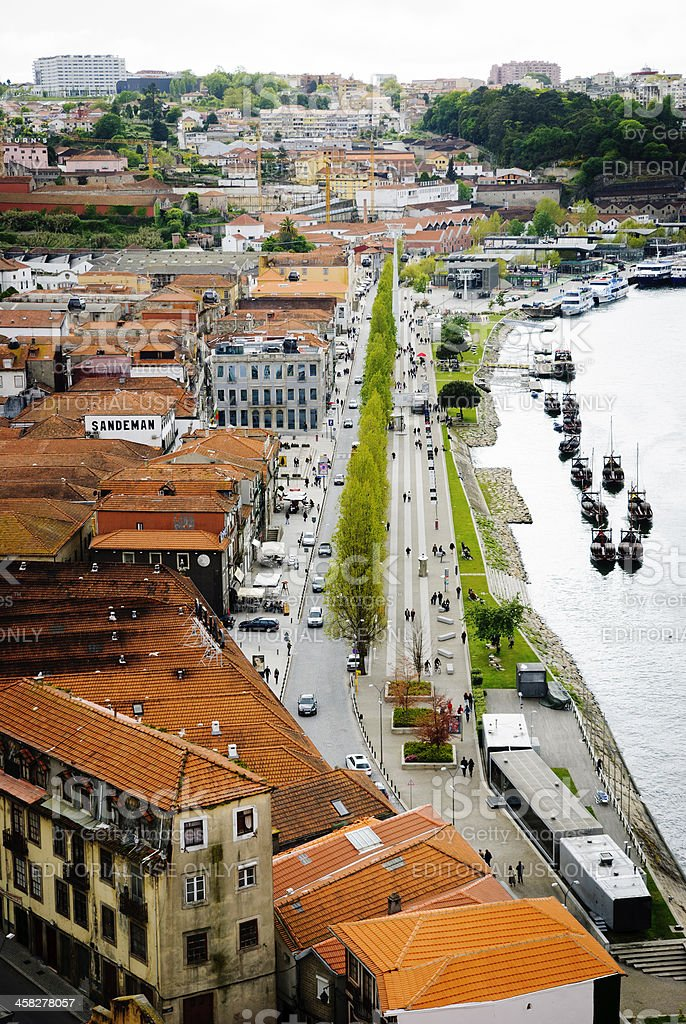 Wine cellars in Porto, Portugal royalty-free stock photo