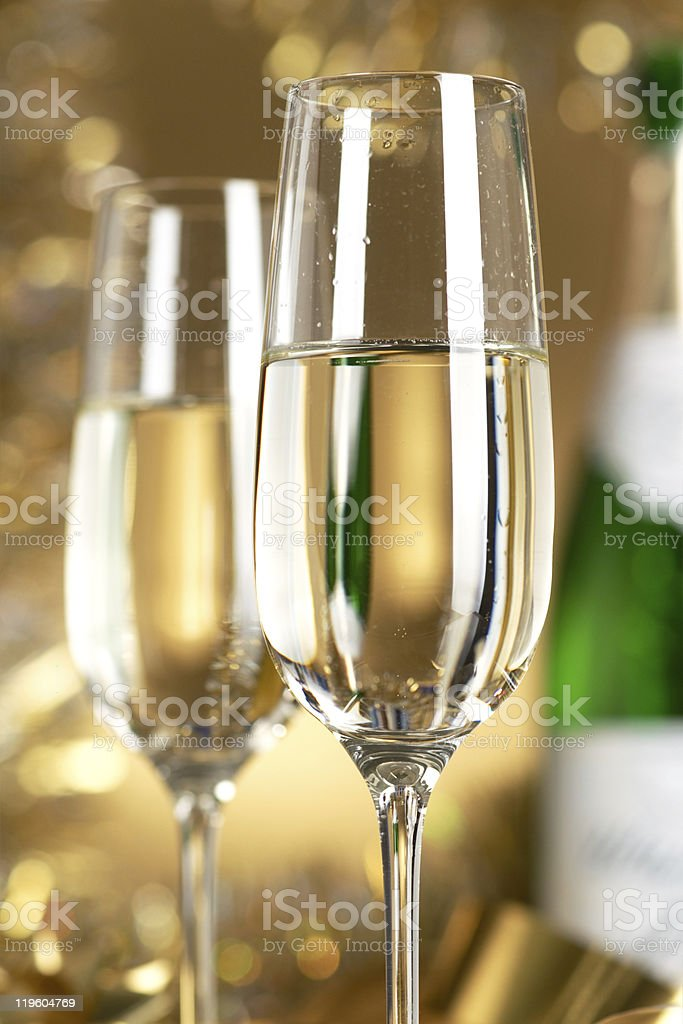 Wine. Champagne royalty-free stock photo
