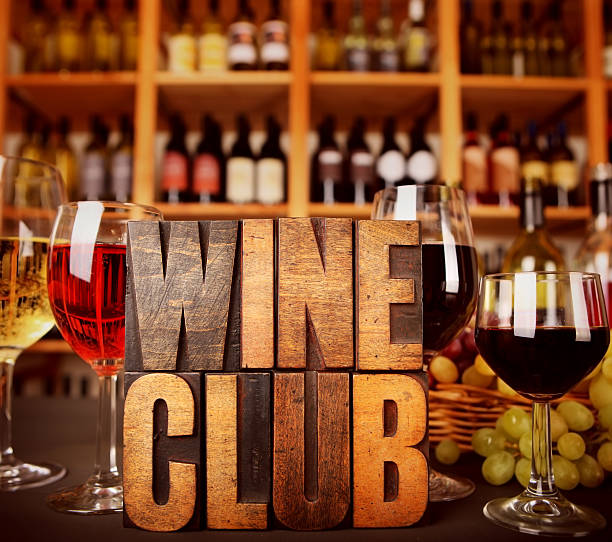 Wine Club stock photo