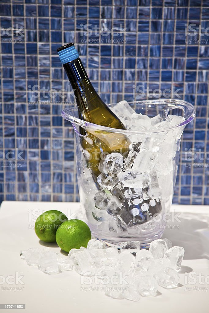 Wine cooler royalty-free stock photo