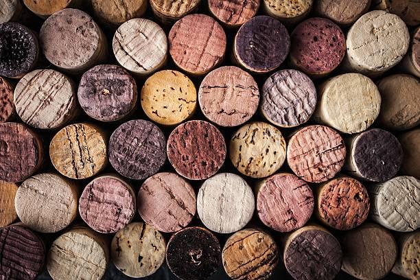Wein corks Hintergrund-Nahaufnahme – Foto