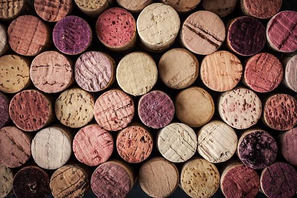 Wein corks Hintergrund horizontale – Foto