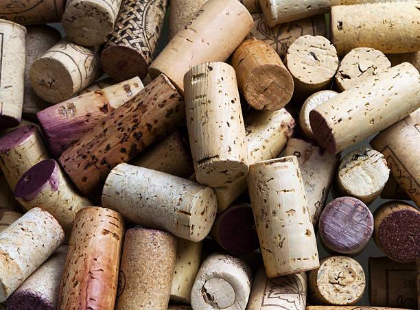 Wine corks background stock photo