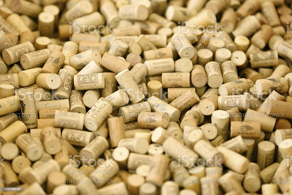 Wine corks background royalty-free stock photo