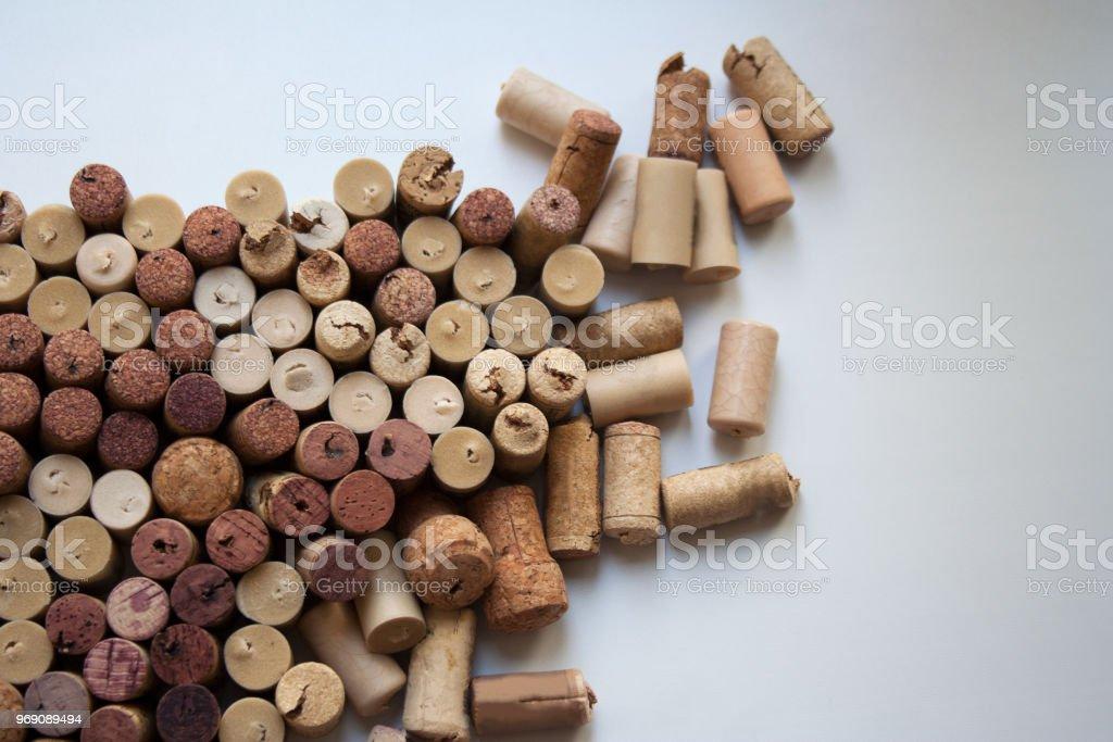 Fond de bouchons de bouteilles de vins - Photo