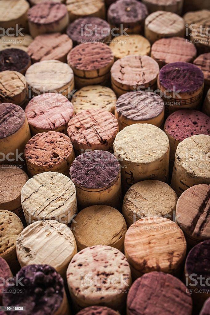 Wein corks Hintergrund vertikale – Foto