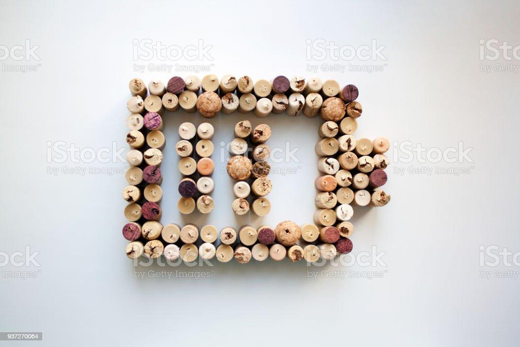 Niveau de charge de batterie de bouchons de vin - Photo