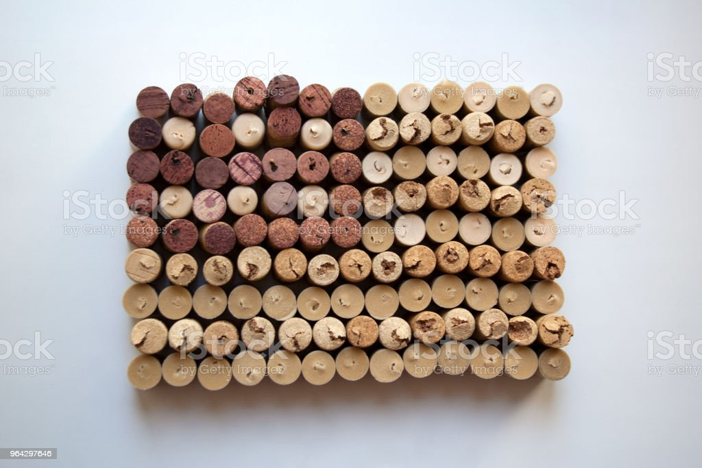 Wine corks flag of the USA stock photo