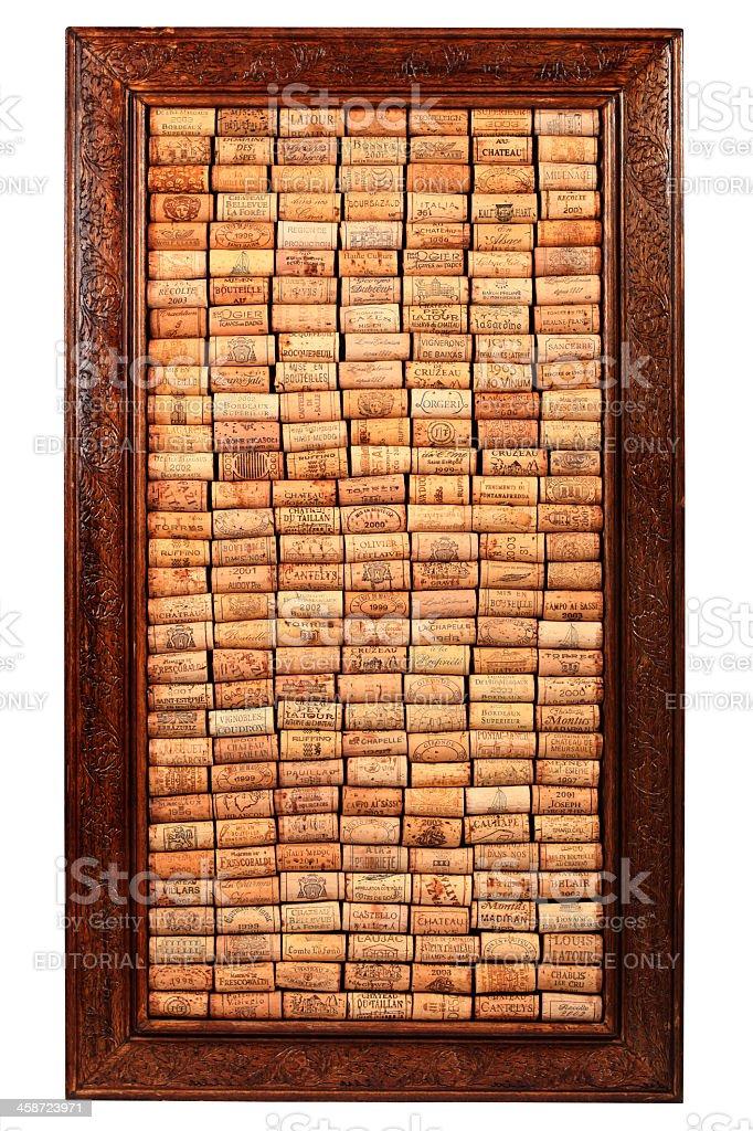 Wine Corks Frame royalty-free stock photo