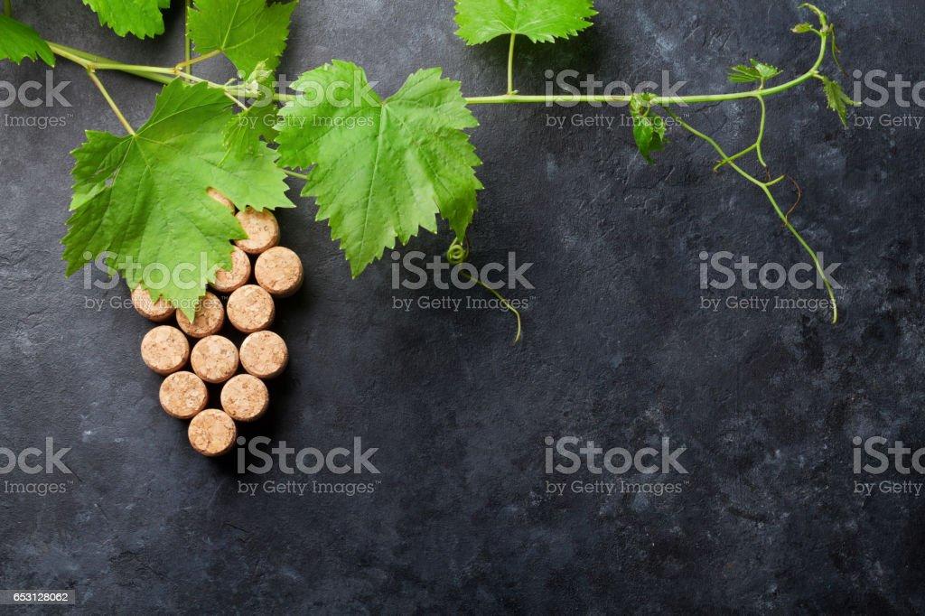 Bouteille de vin, de raisin et de vigne en forme - Photo