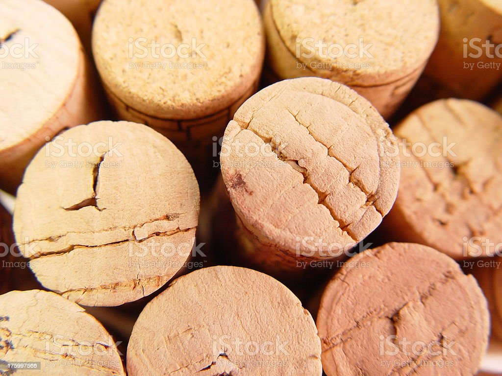 Wine Corks (serie of 28 images) royalty-free stock photo