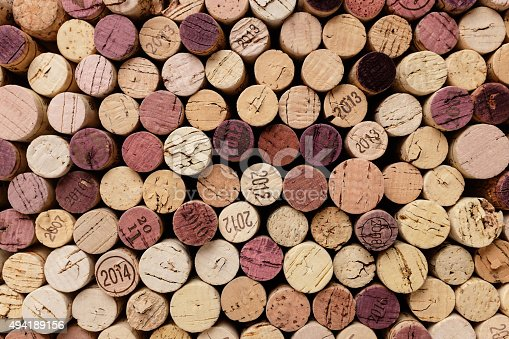 background of wine corks.