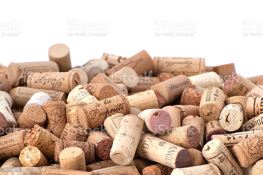Wine corks. stock photo