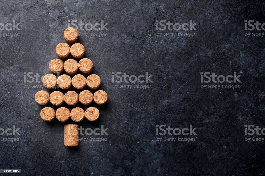 Wine corks shaped christmas tree - Photo