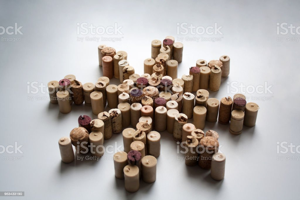 Wine corks wind rose - foto stock