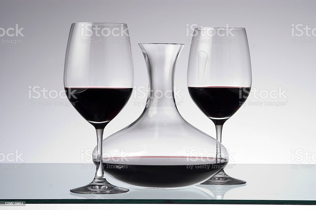 wine decanter royalty-free stock photo