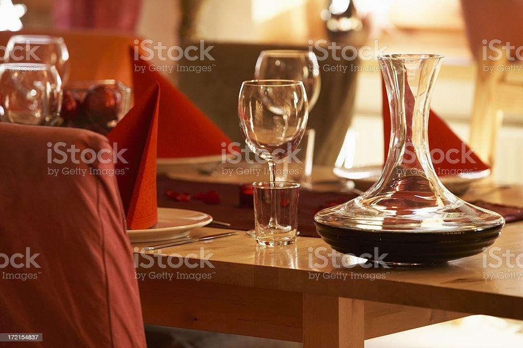 wine decanter stock photo