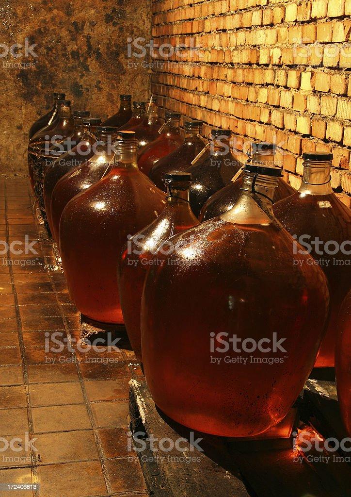 wine demijons royalty-free stock photo