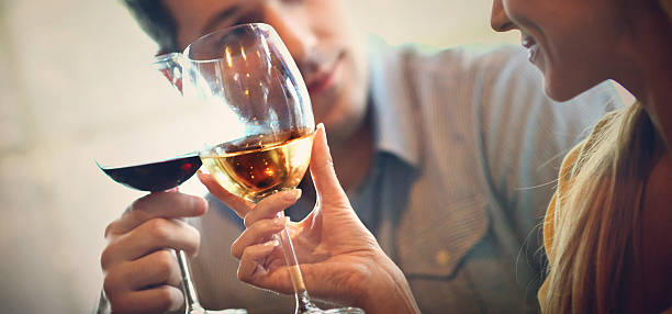 wine drinkers. - couple lap stock photos and pictures