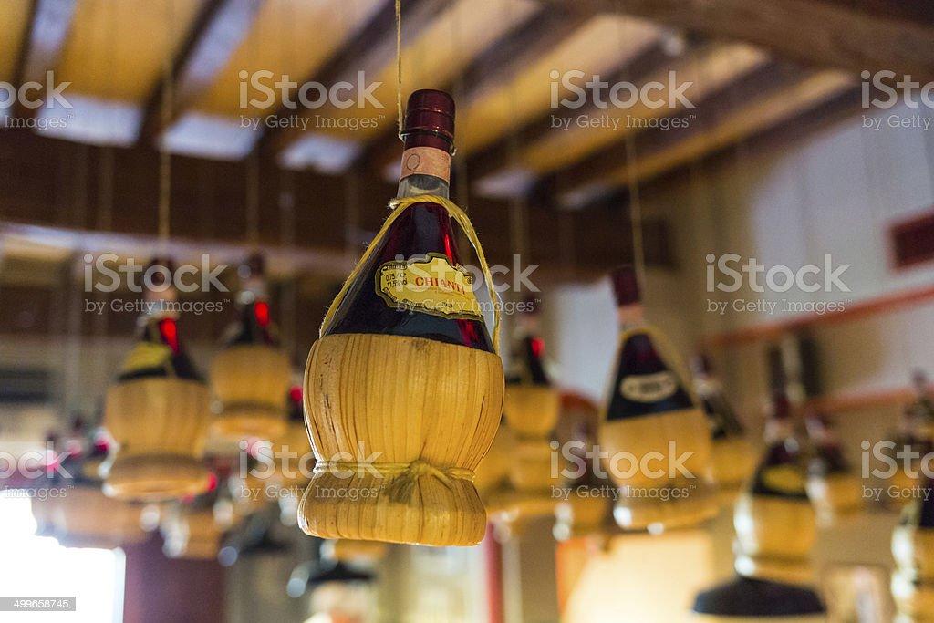 Recipiente-vino del Chianti - foto stock