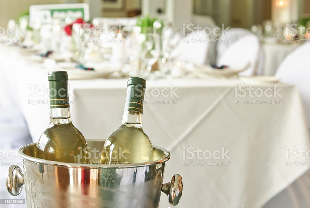 wine for the wedding reception stock photo