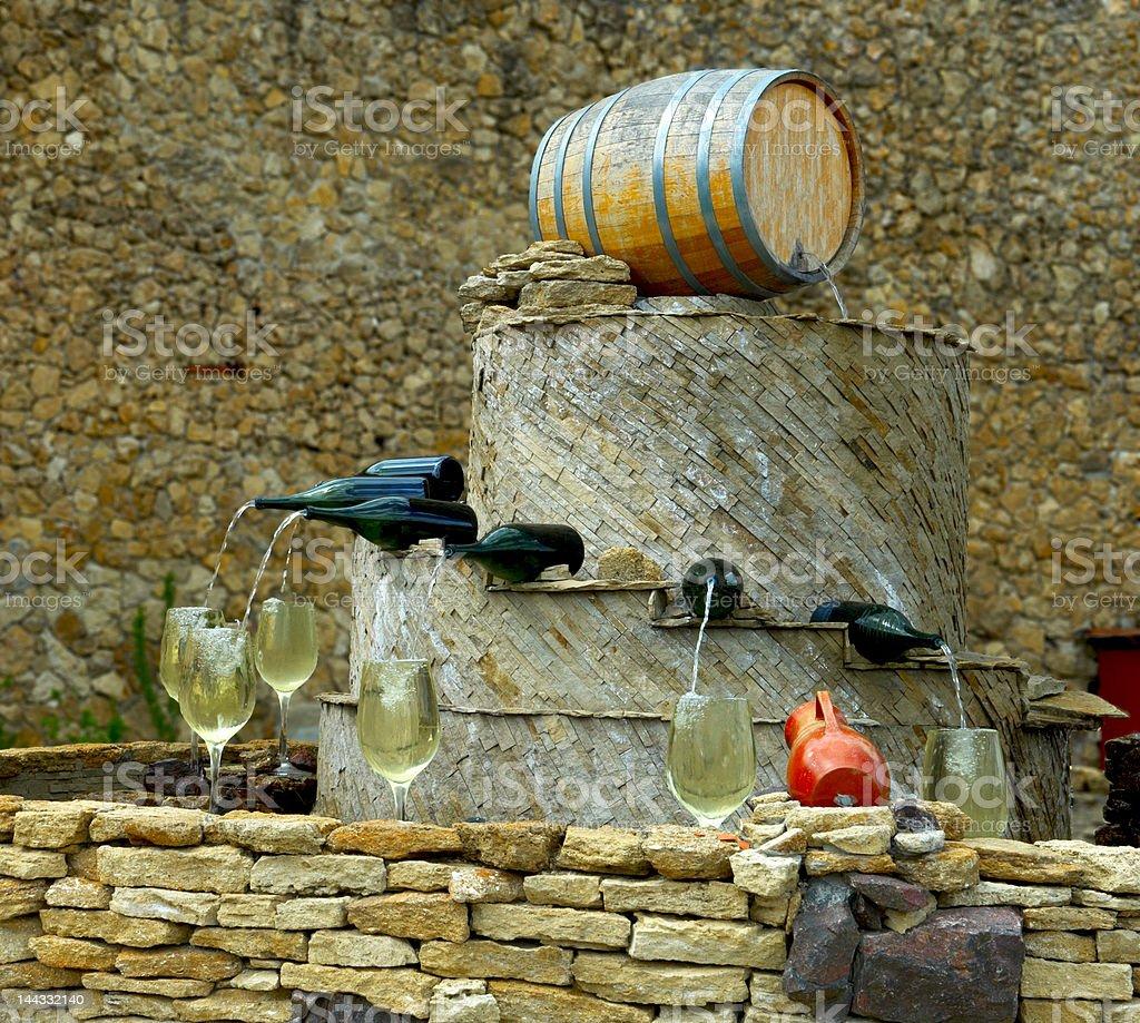 Wine fountain stock photo