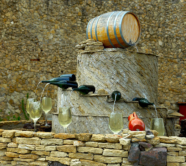 wine fountain - moldova stock pictures, royalty-free photos & images