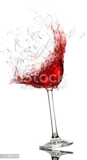 istock Wine glass breaking 171324170