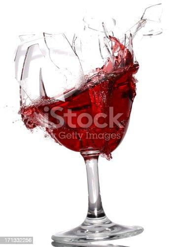 istock Wine glass breaking 171332256