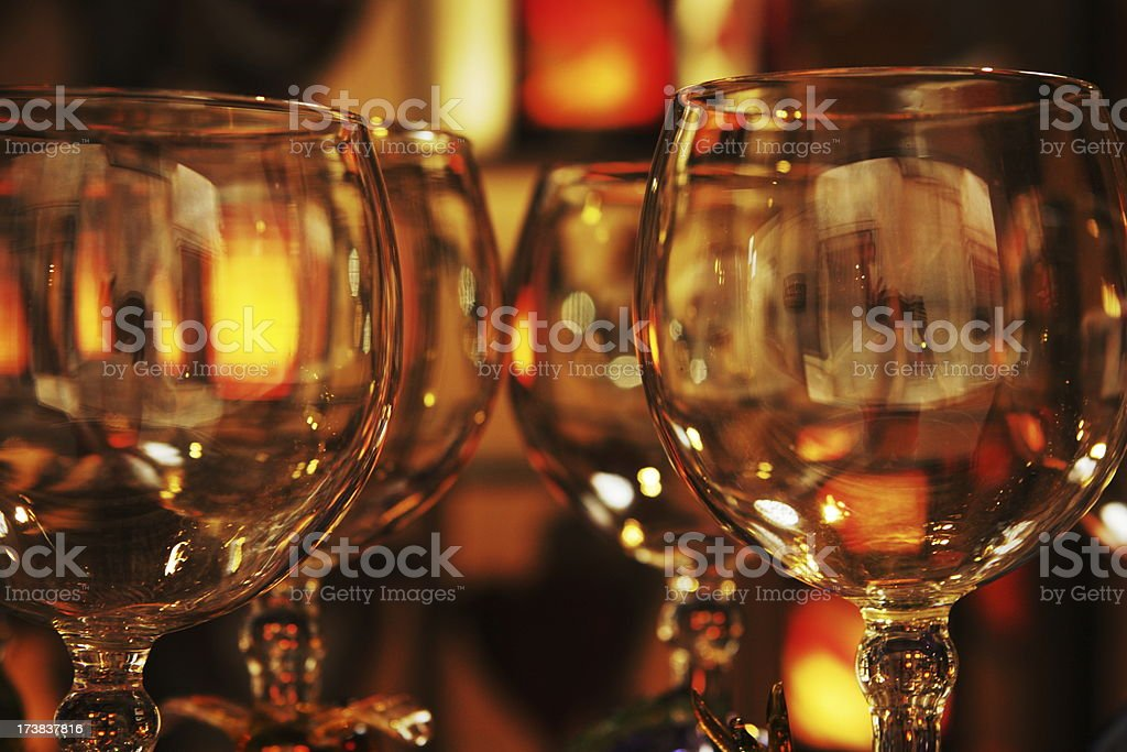 Wine Glass Gourmet Dining Restaurant stock photo