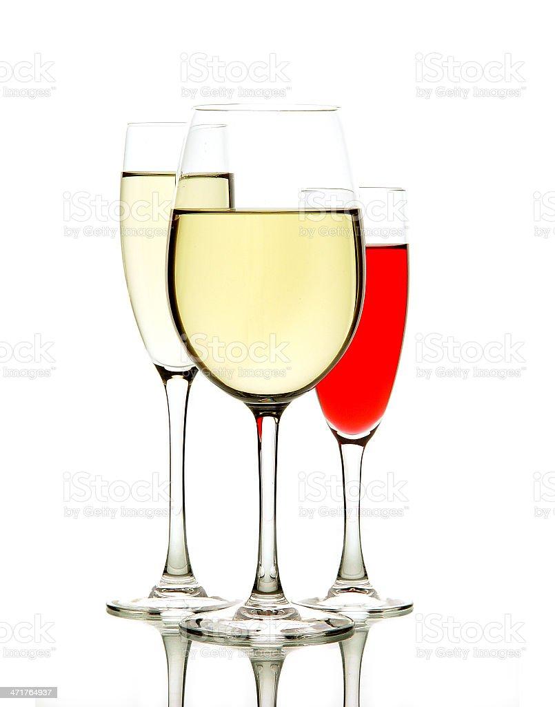 Wine glass isolated on white background royalty-free stock photo