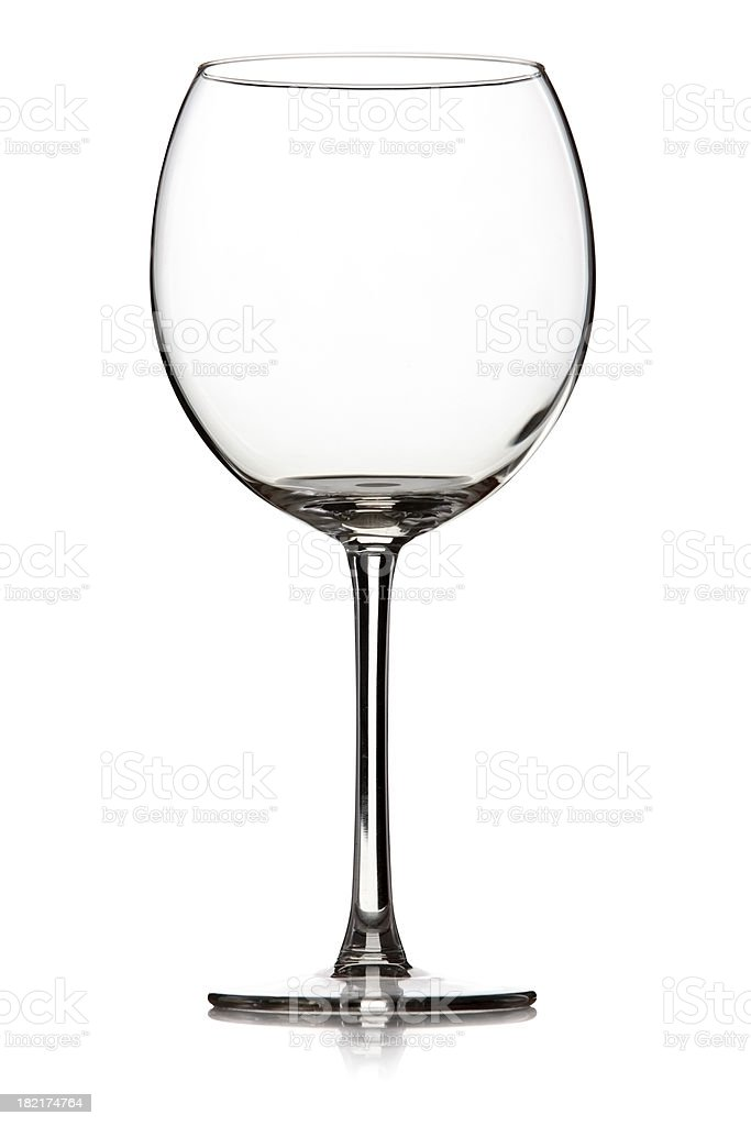 Wine glass isolated on white royalty-free stock photo