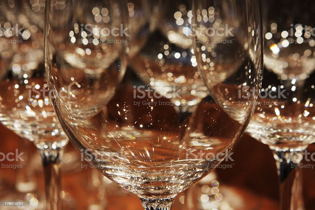 Wine Glass Restaurant Crystal Abstract stock photo