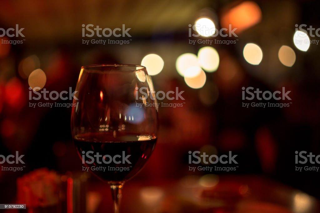 Wine Glass Romantic Night For Valentines Day Stock Photo Istock