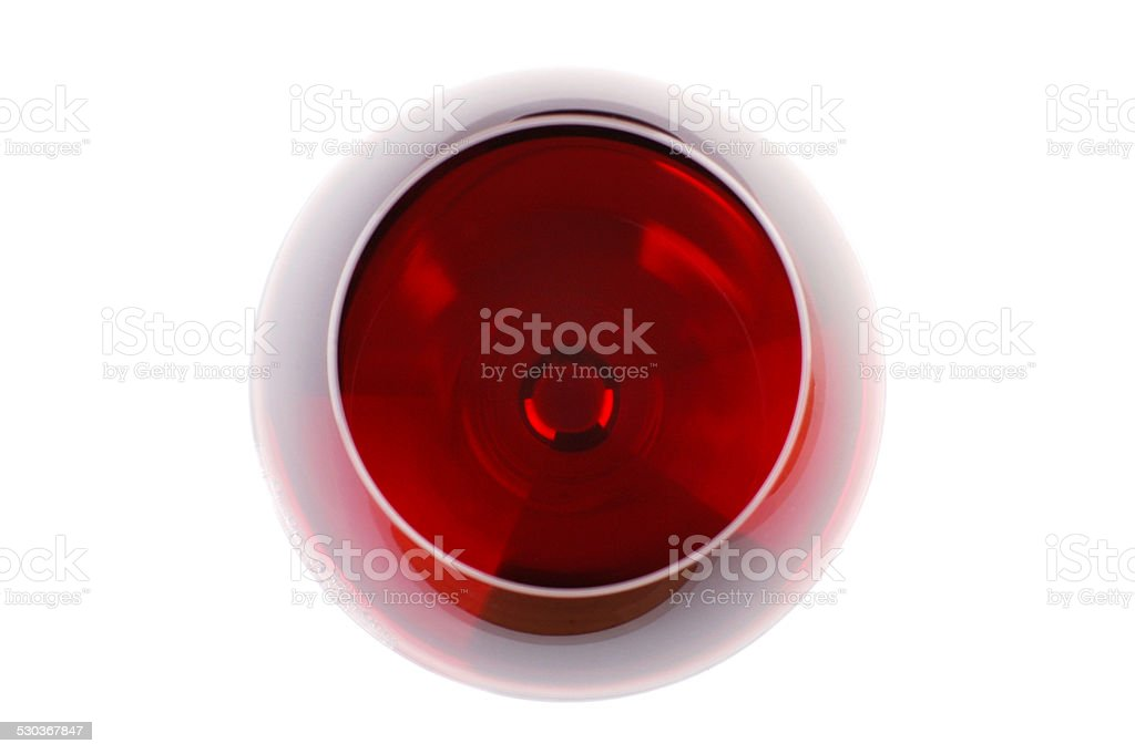 Wine Glass Seen From Above stock photo