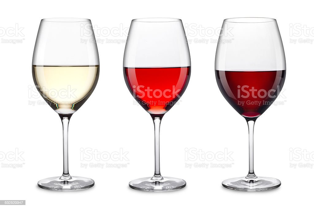 wine glass set stock photo