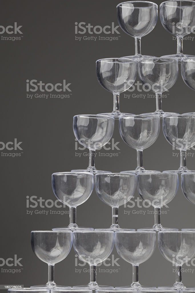 wine glass tower royalty-free stock photo