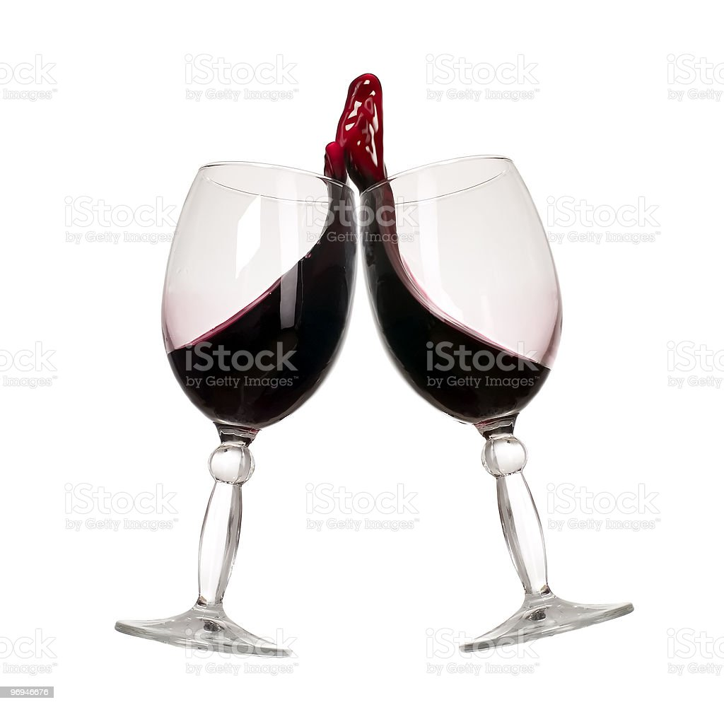 Wine glass with drink wave royalty-free stock photo