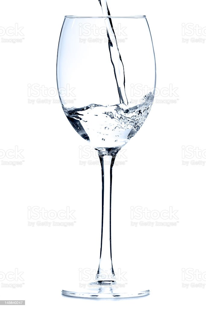 Wine glass with water stock photo