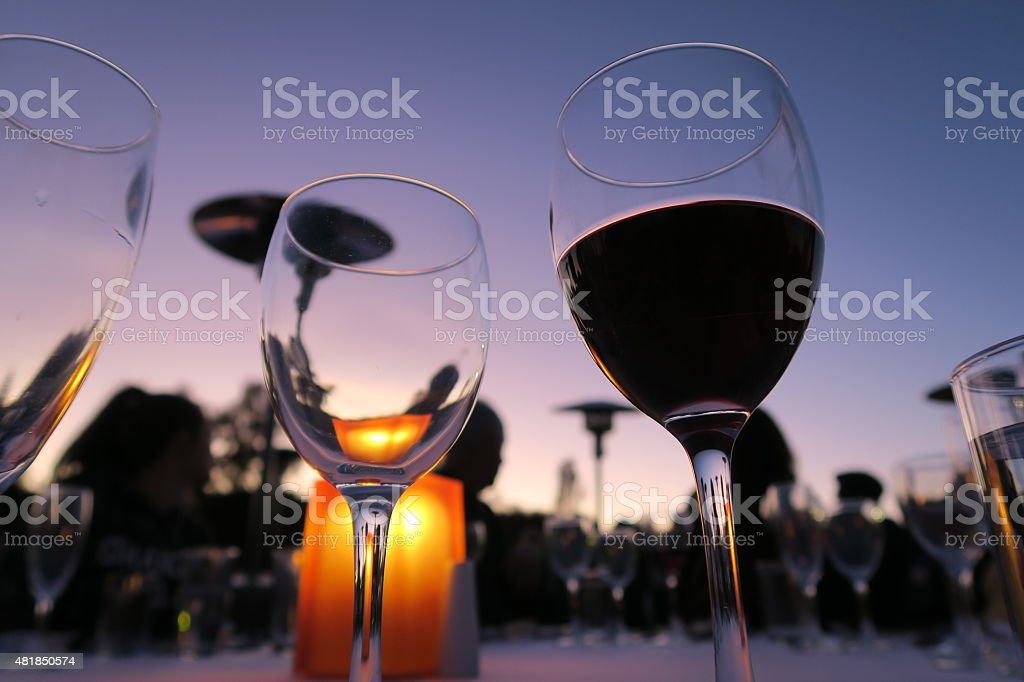 Wine glasses 01 stock photo
