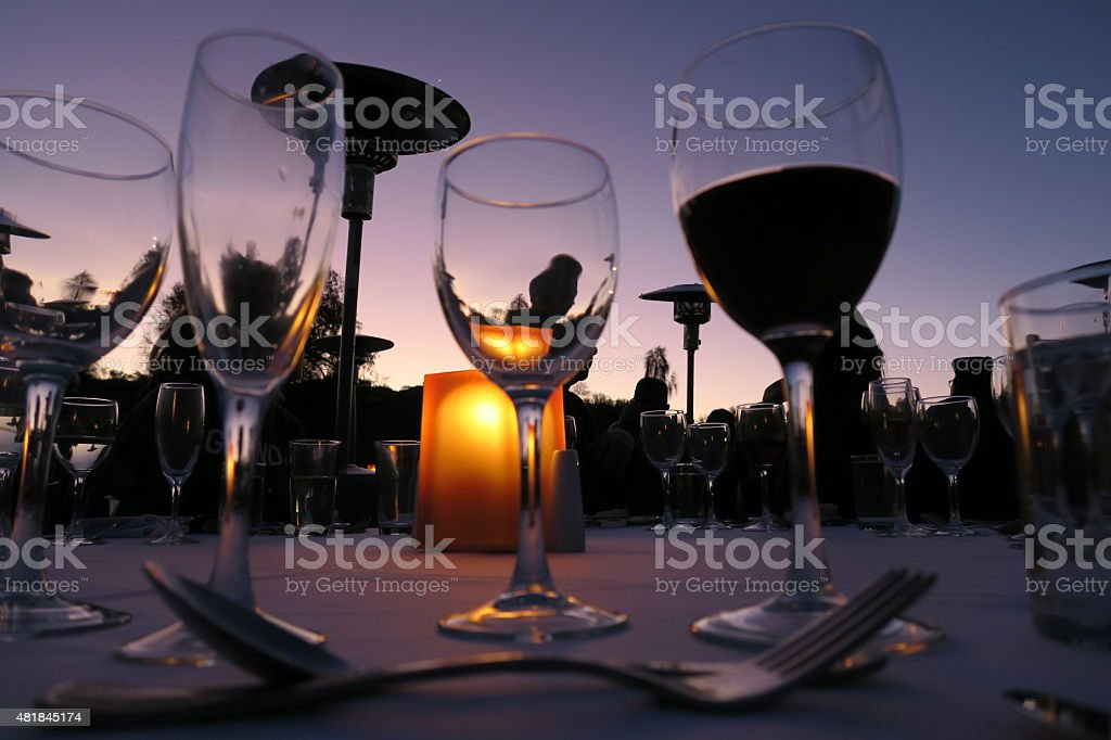 Wine glasses 02 stock photo